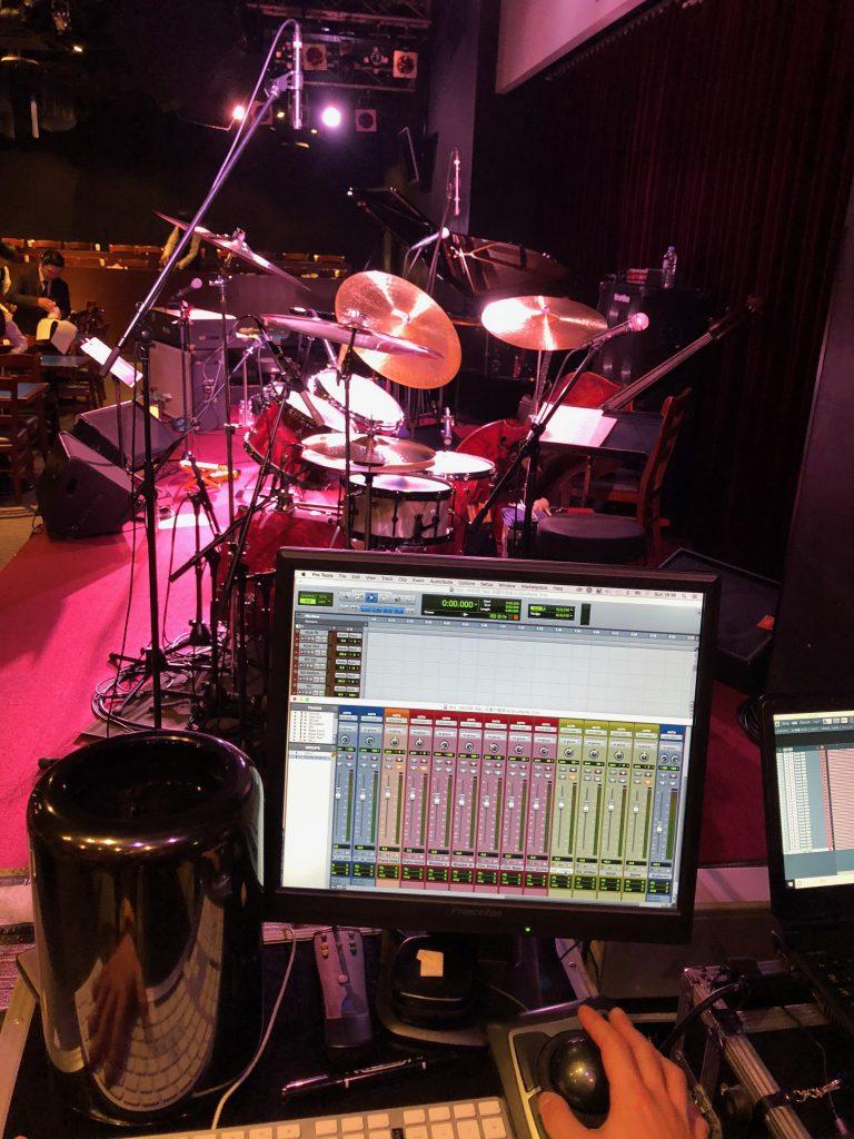 ブルーノート名古屋に持ち込んんだフルハウスのライブレコーディングシステムProTools HDX
