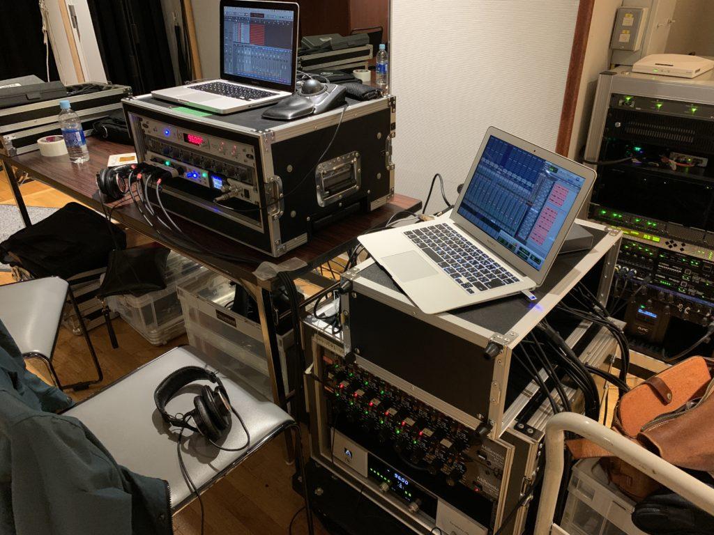 Symphony I/O と AXR4T のダブルシステムでのレコーディング