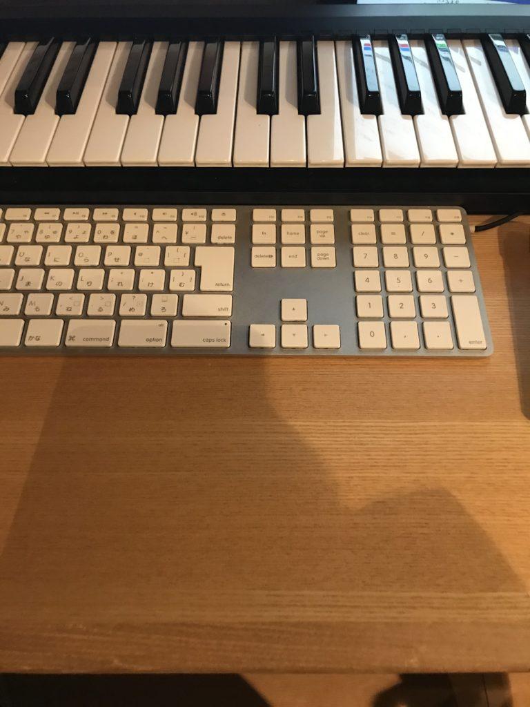 Keyboard も置くに