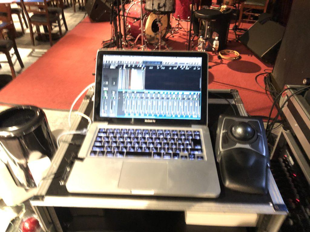 Dante録音にてバックアップのLogic Pro X