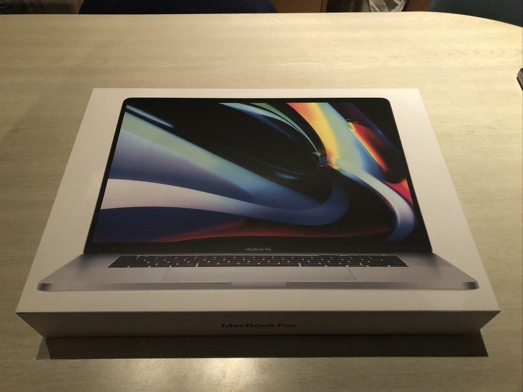 MacBookPro16インチ【フルスペック】が届きました