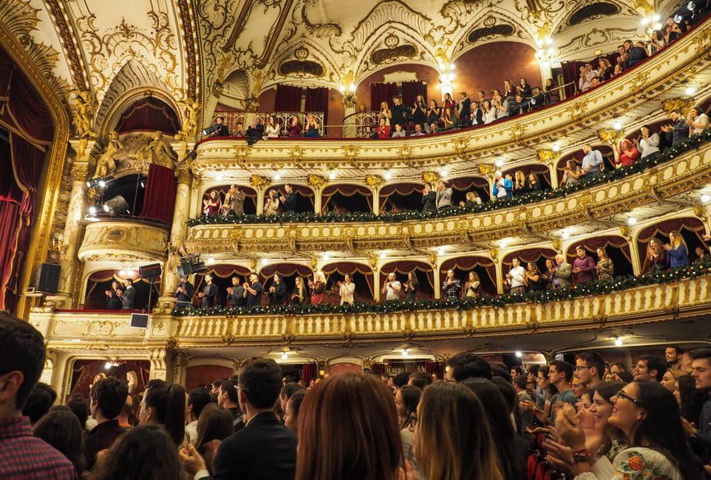 The last minute of a opera scene in Cluj Napoca, Romania.