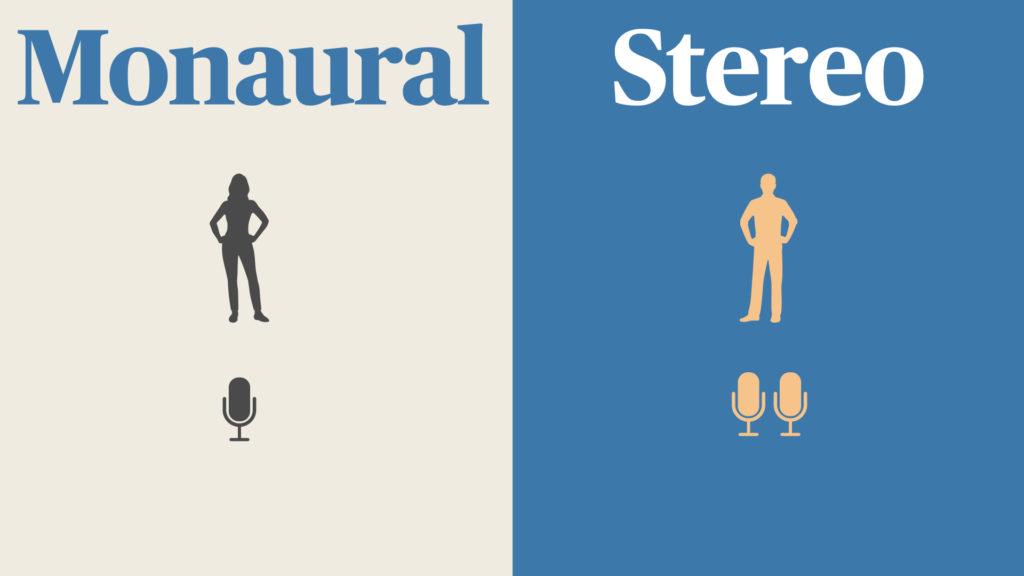 モノラルとステレオの録音する時の違い