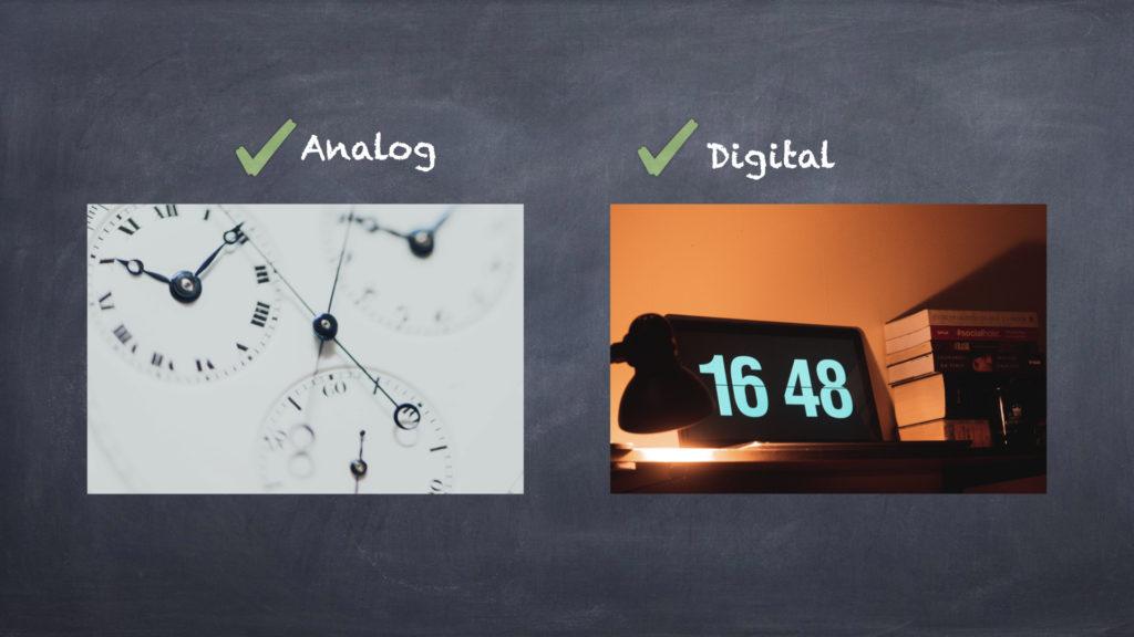 アナログとデジタル