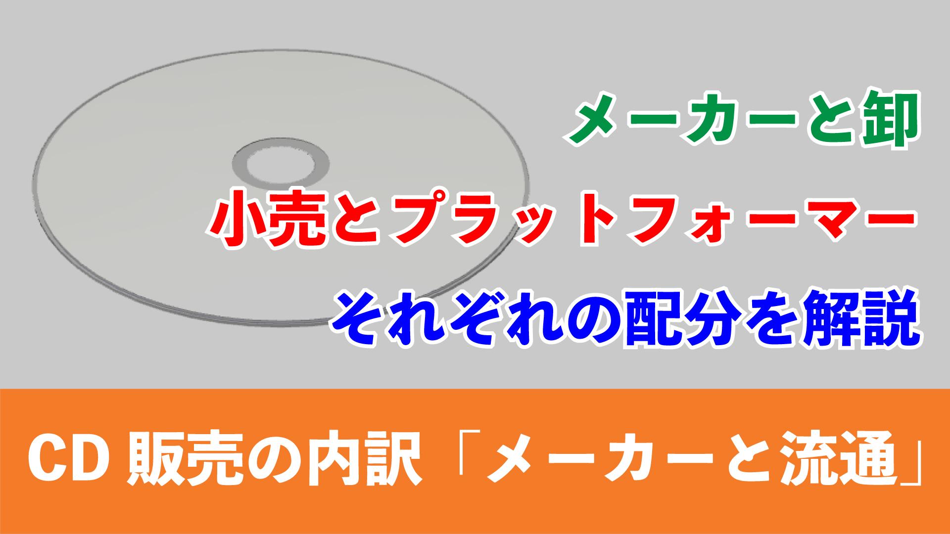 CD販売額の内訳|その1「メーカーと流通」_アイキャッチ