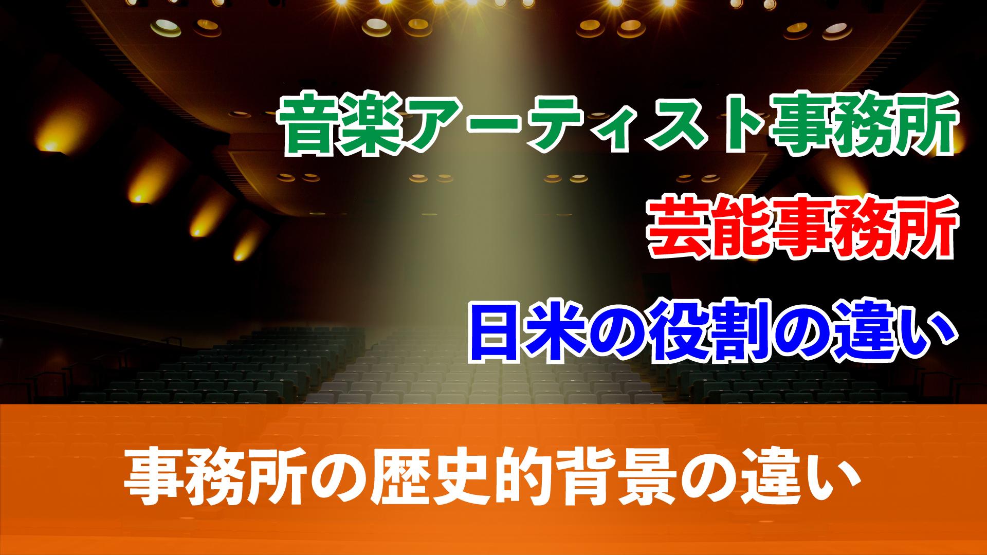 日米の違いと歴史的背景からみる【音楽アーティスト事務所の役割】_アイキャッチ